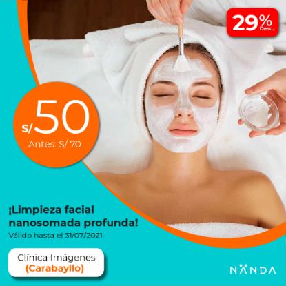 ¡Limpieza facial nanosomada profunda! 😍 - Clínica Imágenes (CARABAYLLO)